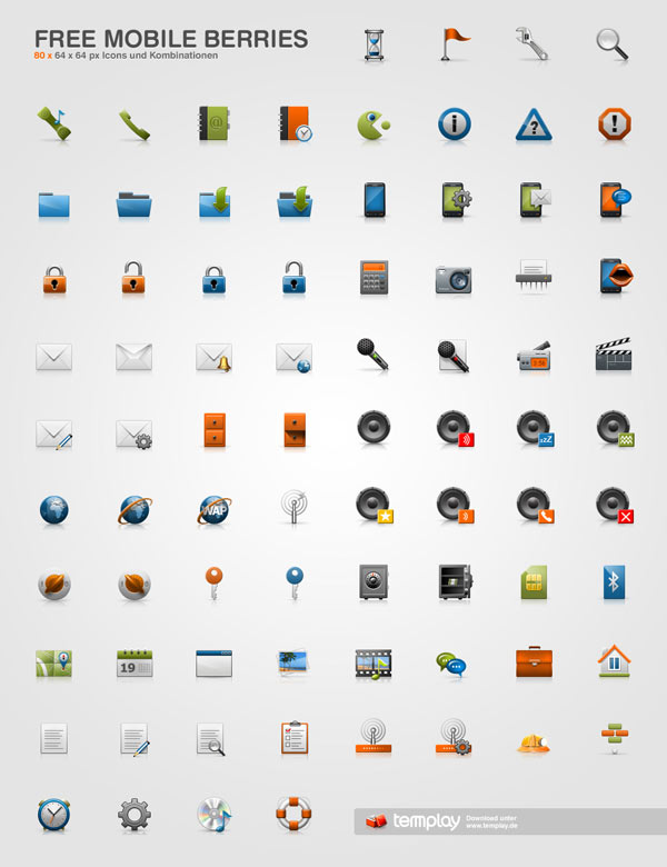 40 Free Professional Useful Icon Sets for Web Designers