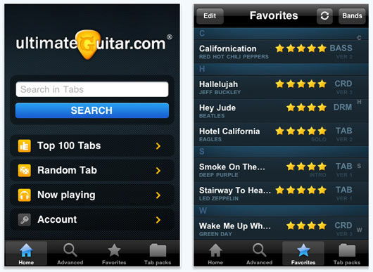 Guitar ultimate guitar tabs chords : 40+ iPhone Apps Helping to Start Your Own Music Band