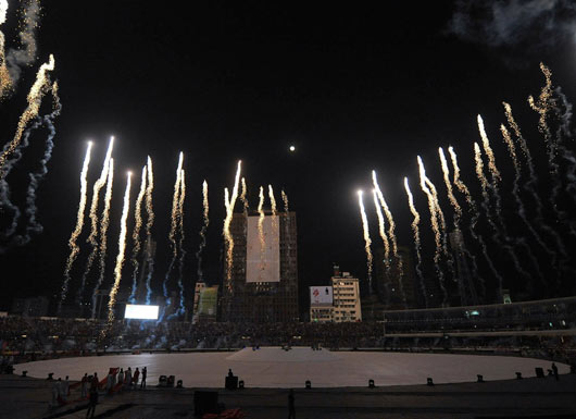 Cricket Worldcup Opening Ceremony with Colorful Fireworks