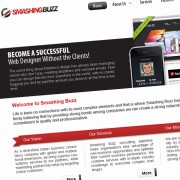 Professional Business Web Layout Design With Free PSD Source File