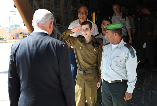 Israeli soldier Gilad Schalit returned