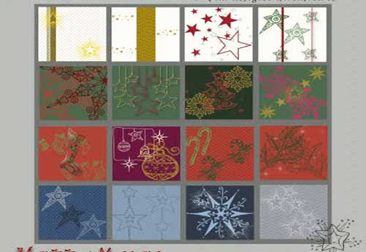 16 Happy Christmas Patterns