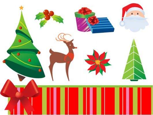 Christmas Vector Icons by Vector Jungle