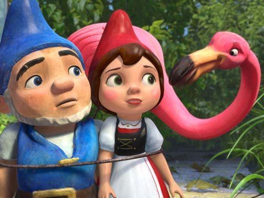 Garden gnomes Gnomeo and Juliet