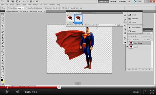 Puppet Warp Tool to Animations in Photoshop CS5