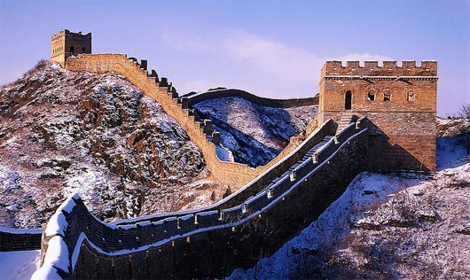 Snow on the Great Wall, China