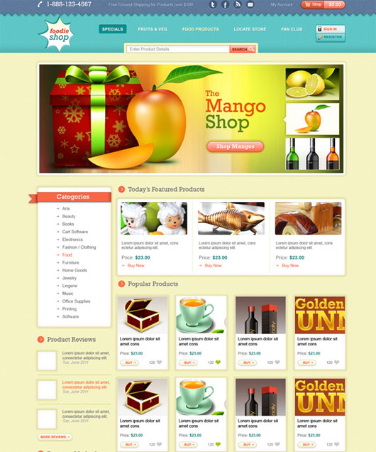 Ecommerce Web Template