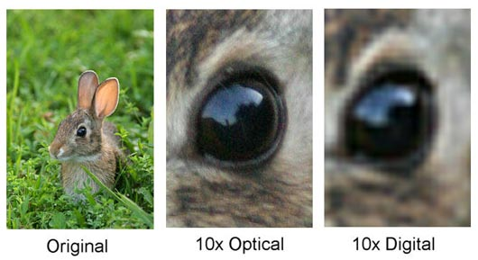 Role of Optical and Digital Zoom