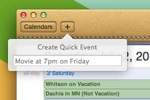 6. Add an Event to iCal by Typing a Phrase