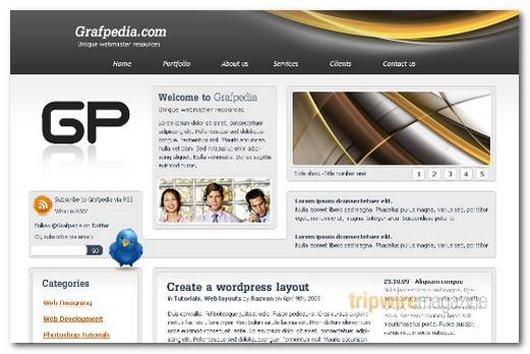 Business WordPress PSD Layout