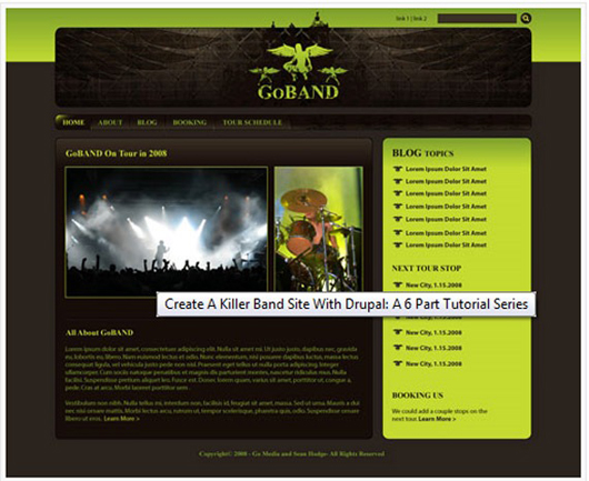 Create a Killer Band Site with Drupal: A 6-part Tutorial Series