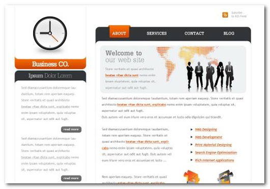 Create a web 2.0 business layout