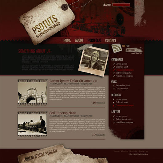 How to Create a Grunge Web Design in Photoshop