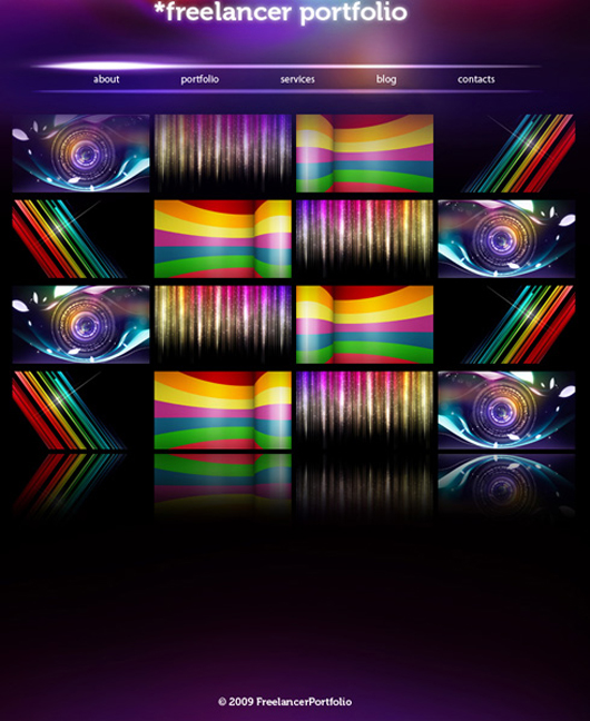 Modern and Colorful web layout