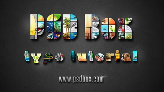 Photo Mosaic Text Effect in Photoshop