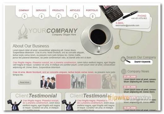Professional Business Layout