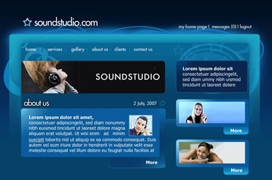 Sound System Studio Web Layout