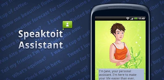 Speaktoit Assistant as siri alternate for android