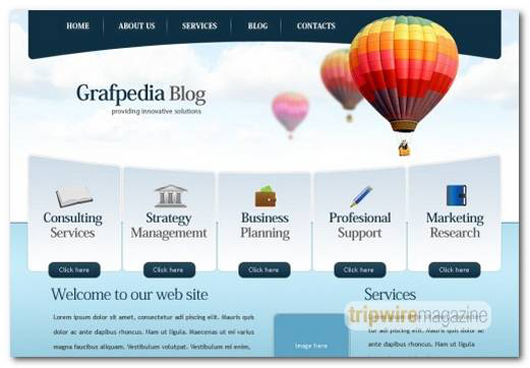 Trendy Business and Finance Layout