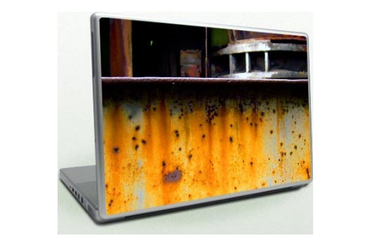 laptop skin industrial orange