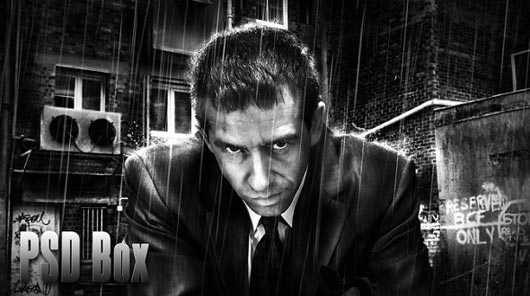 Business Man Awesome Black And White Tutorial