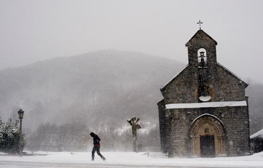 Extreme cold weather hits Europe