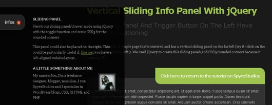 How To Create A Sexy Vertical Sliding Panel Using jQuery And CSS3
