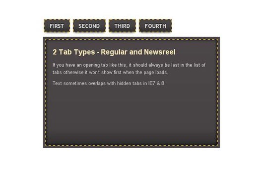 How to Create a CSS3 Tabbed Navigation