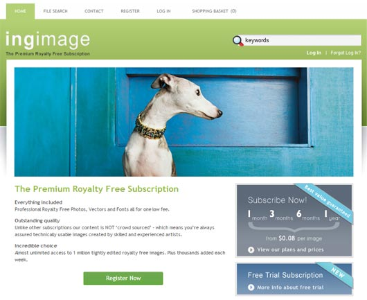Ingimage, Your Free Subscription to Quality Images