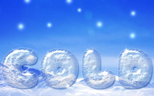 Simple Ice Text Effect
