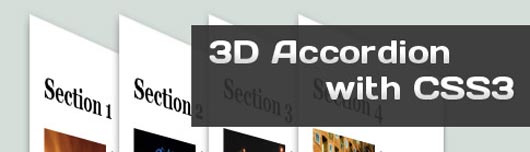 Tutorial: 3D Accordion with CSS3