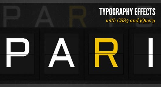 Typography Effects with CSS3 and jQuery