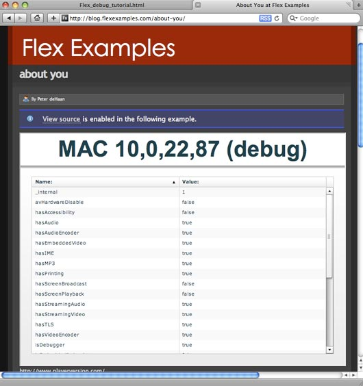 Working with the Debugger in Adobe Flex Builder