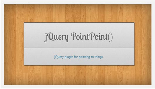 jQuery PointPoint – A Plugin For Pointing To Things