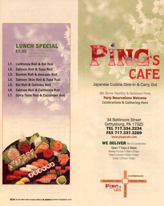 Chinese Restaurant, Ping's Cafe