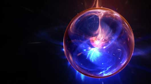 Create an infinite galactic zoom through particle energy