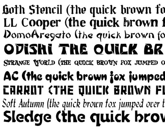 Free stencil fonts that aren't ugly