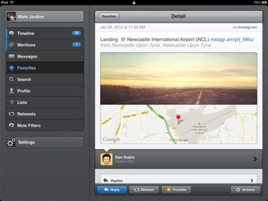 Tweetbot — A Twitter Client with Personality for iPad
