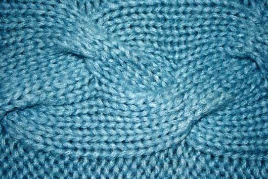Blue Cable Knit Pattern Texture