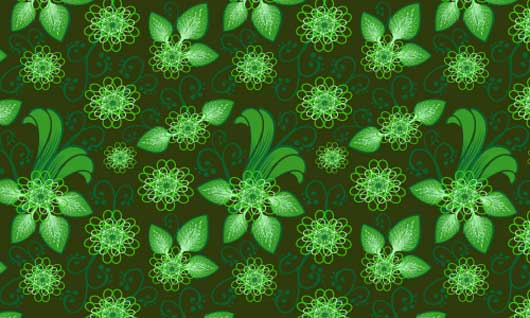 Cool Frilly Flowers Pattern
