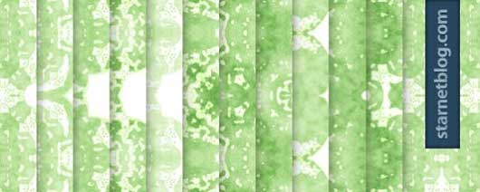 Green abstract watercolor tileable patterns