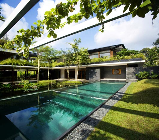 Sustainable Green Roof House