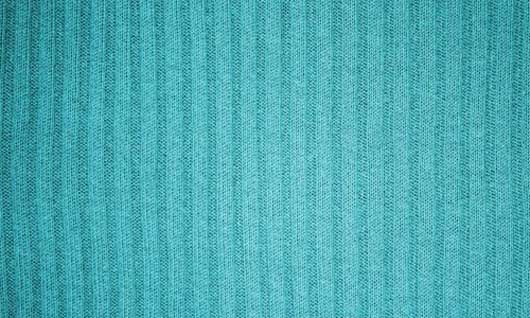 Turquoise Ribbed Knit Fabric Texture