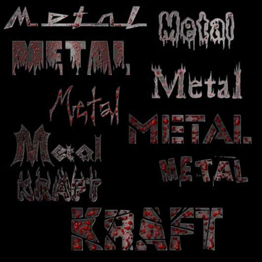 metal gore with fonts