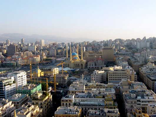 Beirut Downtown cityscape