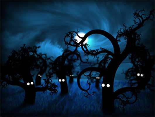 Full Moon in The Midnight Forest - making of