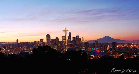 Seattle Cityscape Panoramic V2