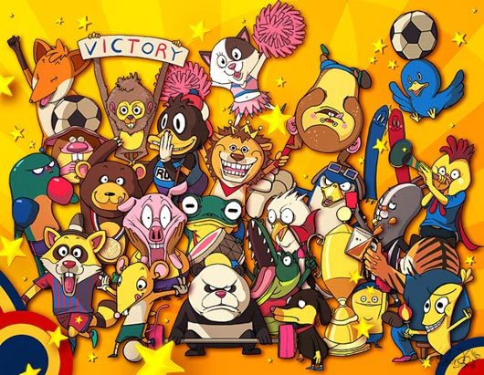 Have Glance At Animal Olympic Characters For Fun
