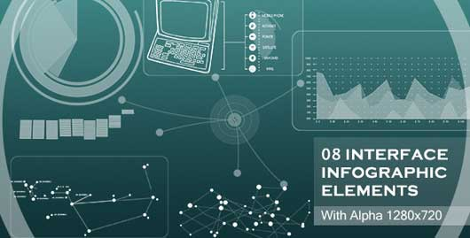 VideoHive Interface Infographic Elements