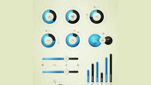 blue and black infographic vector